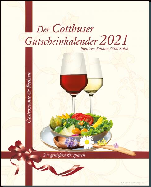 Der Cottbuser Gutscheinkalender 2021 für Gastronomie und Freizeit