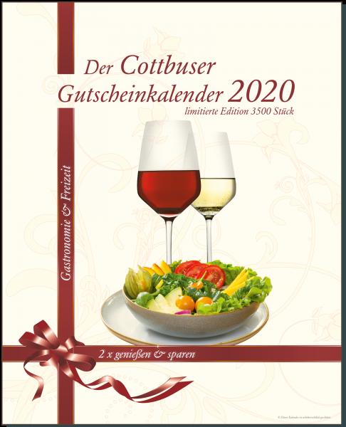 Der Cottbuser Gutscheinkalender 2020 für Gastronomie und Freizeit